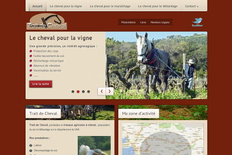 Site web de TRAIT de CHEVAL région Toulonnaise